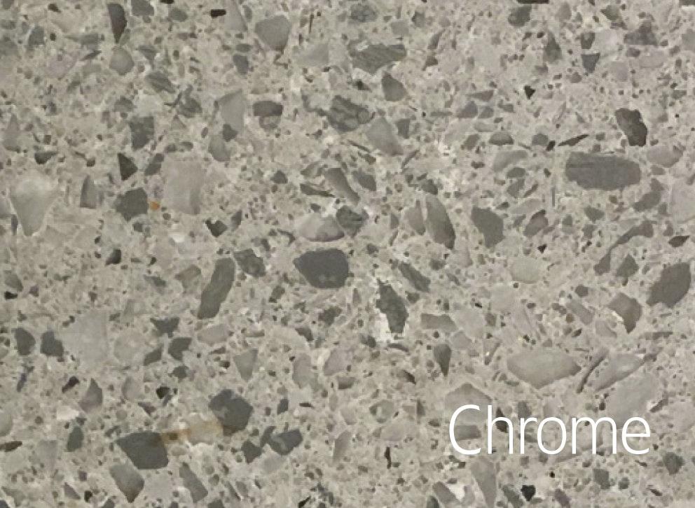 Bänkskiva Hafa Chrome Suede 12x462x1010mm Centrerat Hål