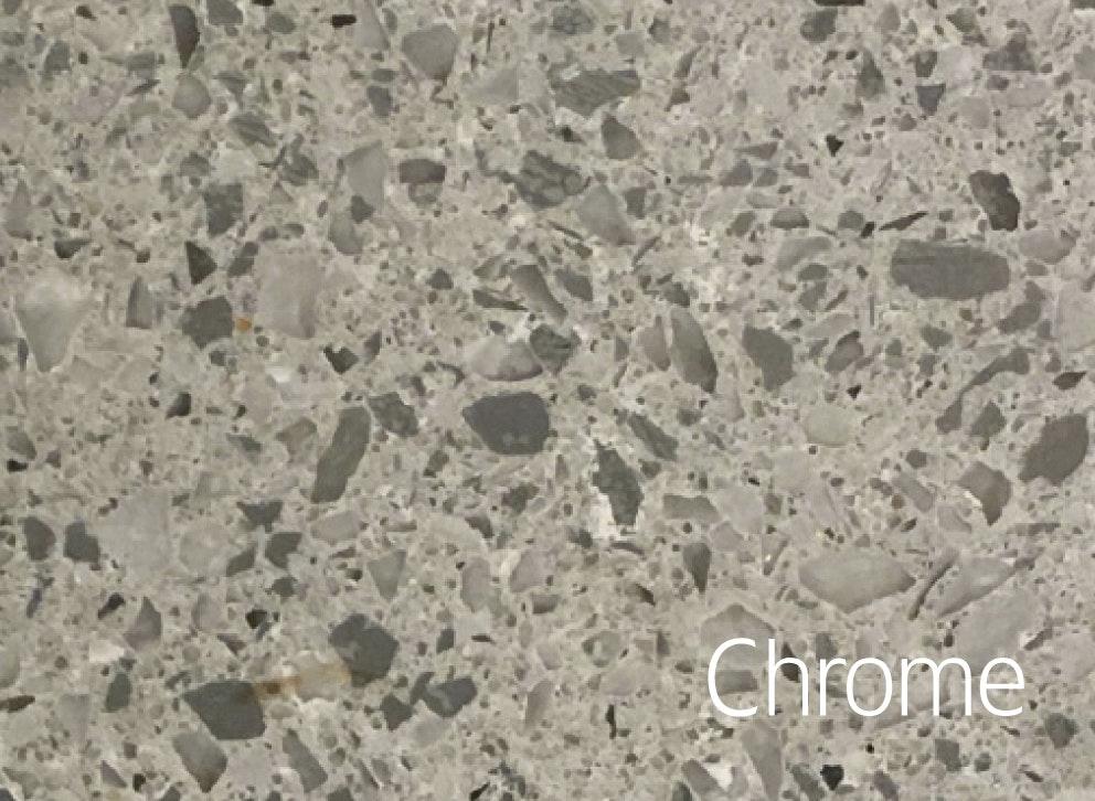 Bänkskiva Hafa Chrome Suede 12x462x1210mm Hål Till Höger