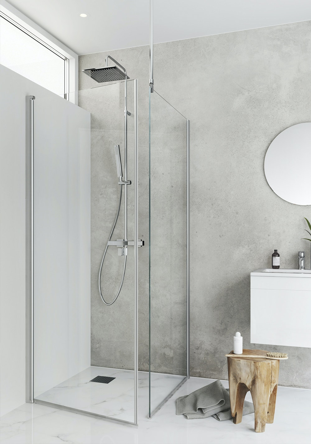 Duschhörn Hafa Igloo Pro I-Wall 80x80mm Klarglas