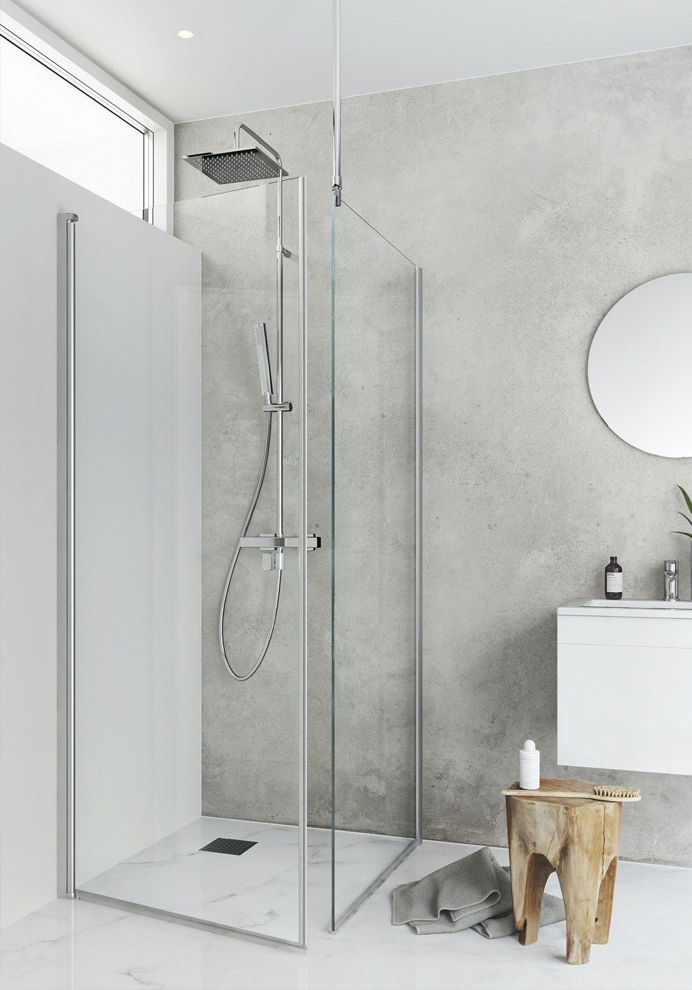Duschhörn Hafa Igloo Pro I-Wall 100x130mm Klarglas