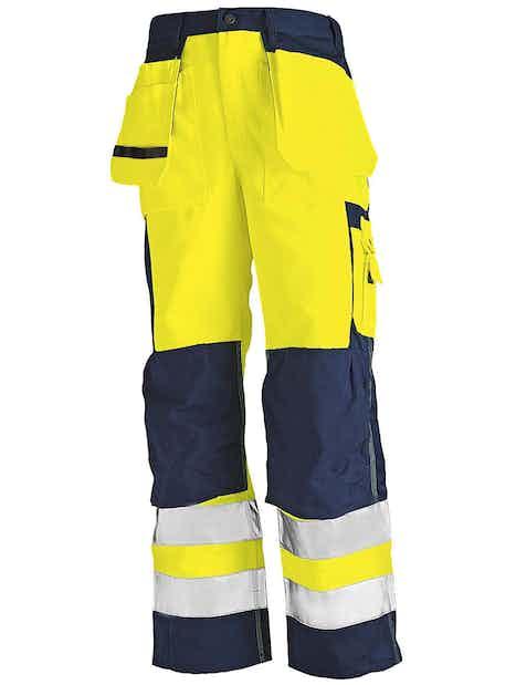 RIIPPUTASKUHOUSUT BLÅKLÄDER HIGHVIS 153318603389 KELTAINEN/TUMMANSININEN D104