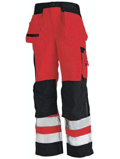 RIIPPUTASKUHOUSUT BLÅKLÄDER HIGHVIS 153318605599 PUNAINEN/MUSTA KOKO C50