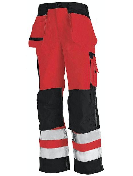 RIIPPUTASKUHOUSUT BLÅKLÄDER HIGHVIS 153318605599 PUNAINEN/MUSTA D116