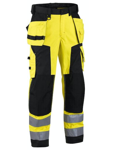 RIIPPUTASKUHOUSUT BLÅKLÄDER HIGHVIS 156725173399 SOFTSHELL KOKO D116