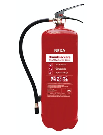 Brandsläckare Röd 12 kg Pulver 55A 233Bc