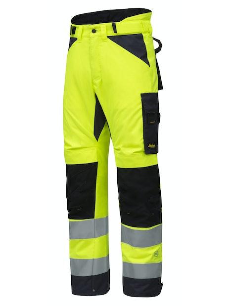 TALVITYÖHOUSUT SNICKERS 6639-6658 KELTAINEN-HARMAA PITKÄ XL