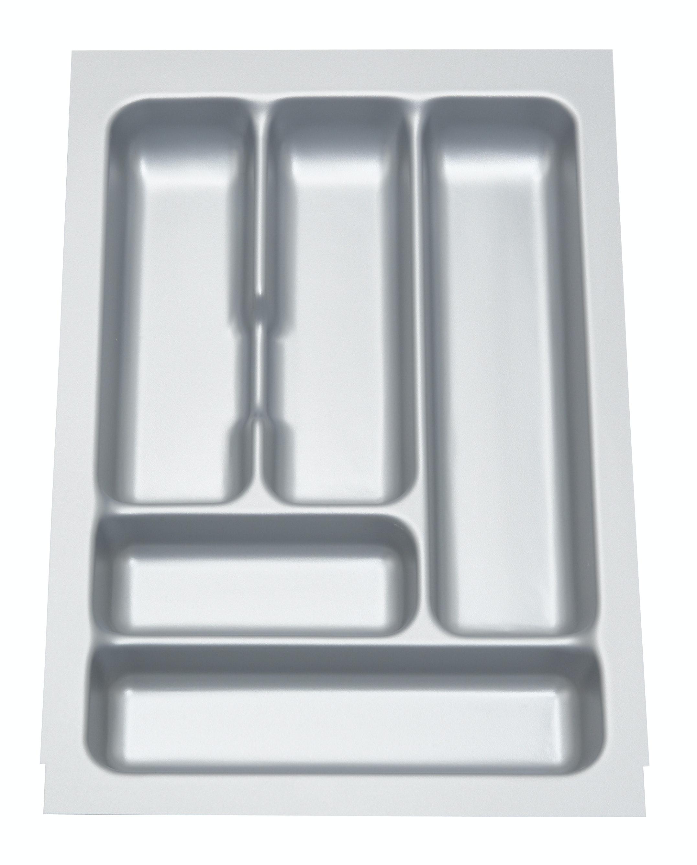 Bestickfack Metabox B=40Cm Grå Plast