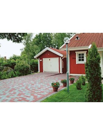 Marksten S:t Eriks Rustik karminröd 20x13,3x5 cm