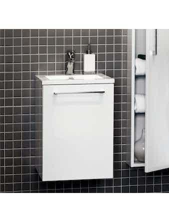 Tvättställsskåp Noro Uno 410 Vit Högglans