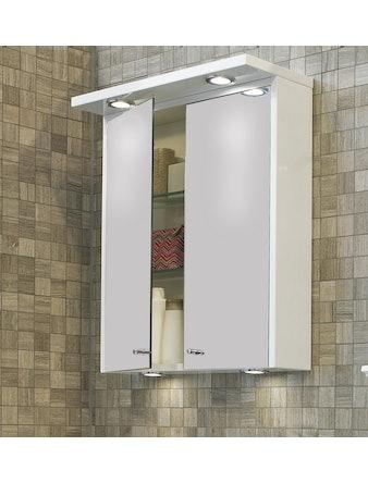 Spegelskåp Noro Polo 600 vit matt