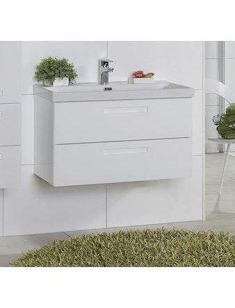 Tvättställsskåp Noro Relounge 800 Vit Högglans