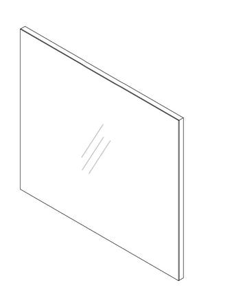 Spegel Noro Relounge 800 vit högglans