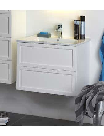 Tvättställsskåp Noro Seaside 600 Vit Matt Ram