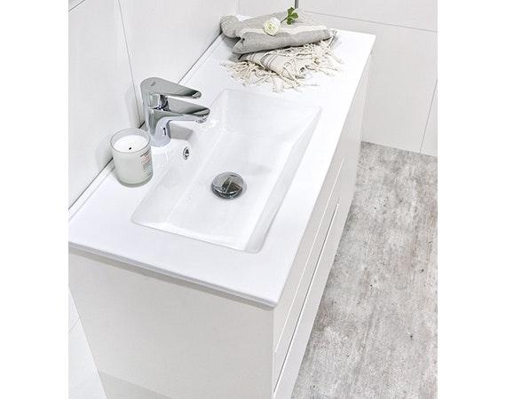 Tvättställ Noro Lifestyle Concept 900 Porslin Vänster Låg Enkelho
