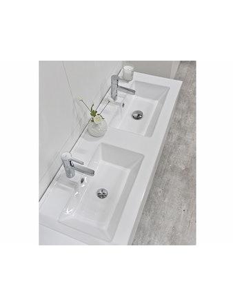 Tvättställ Noro Lifestyle Concept 1160 Porslin Center Låg Dubbelho