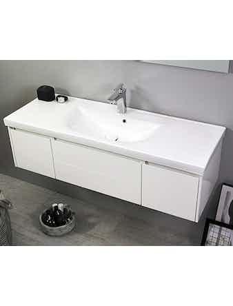 Tvättställ Noro Lifestyle Concept 1200 Porslin Center Hög Enkelho