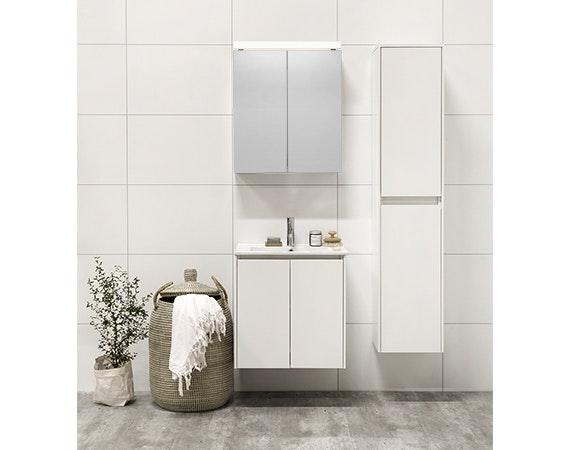 Tvättställsskåp Noro Lifestyle Concept 600 Vit Matt 2 Dörrar