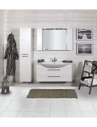 Tvättställsskåp Noro Newport Vit Matt 1050mm