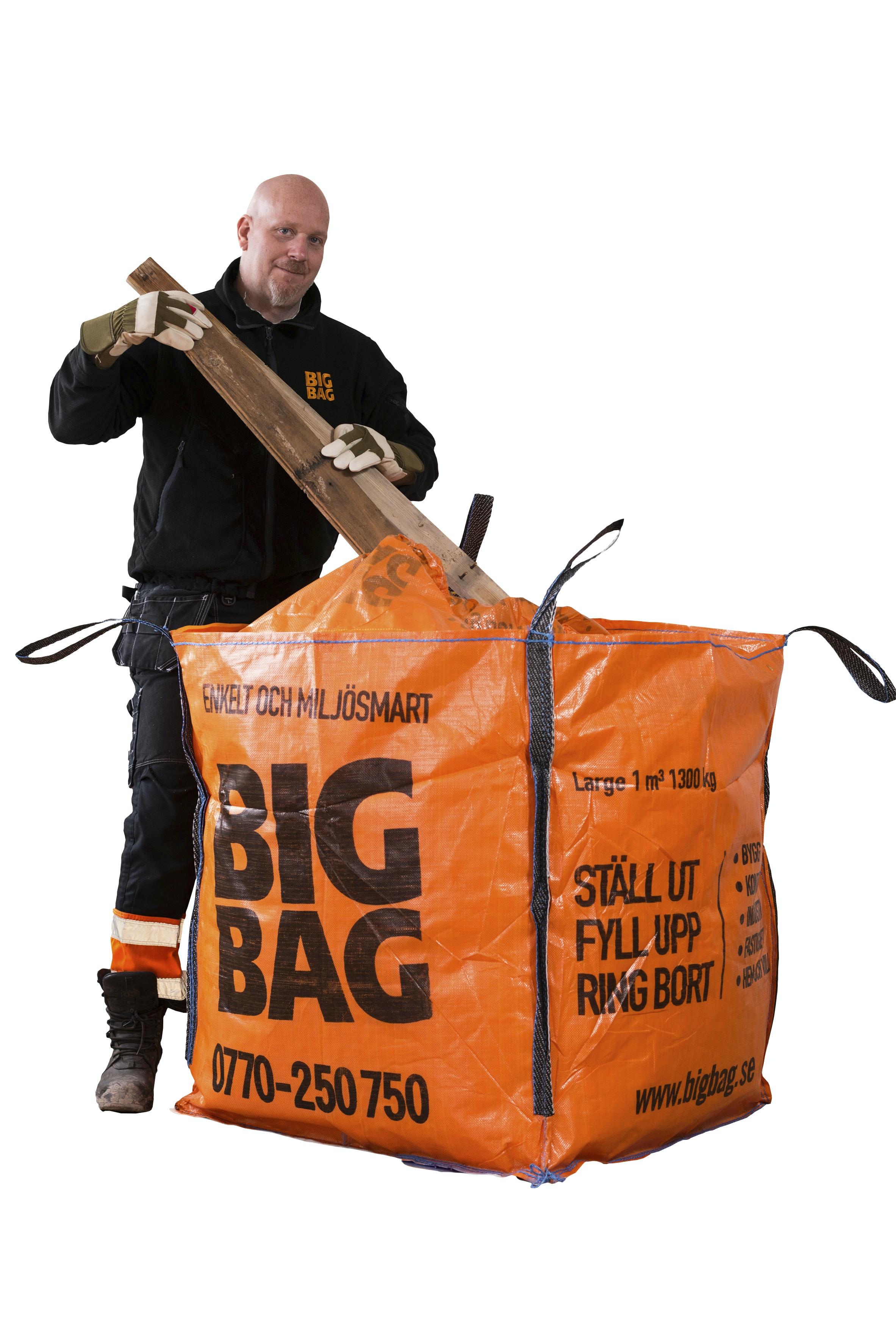 Säck Big Bag Medium Orange 90x90x100cm