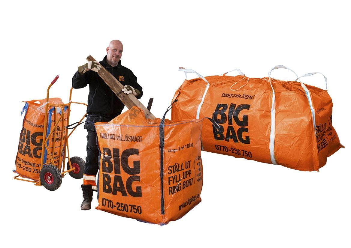 Säck Big Bag Large Orange 200x85x100cm