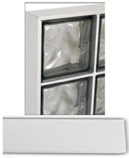 U-Profil till Vetro Glasblock 125cm aluminium