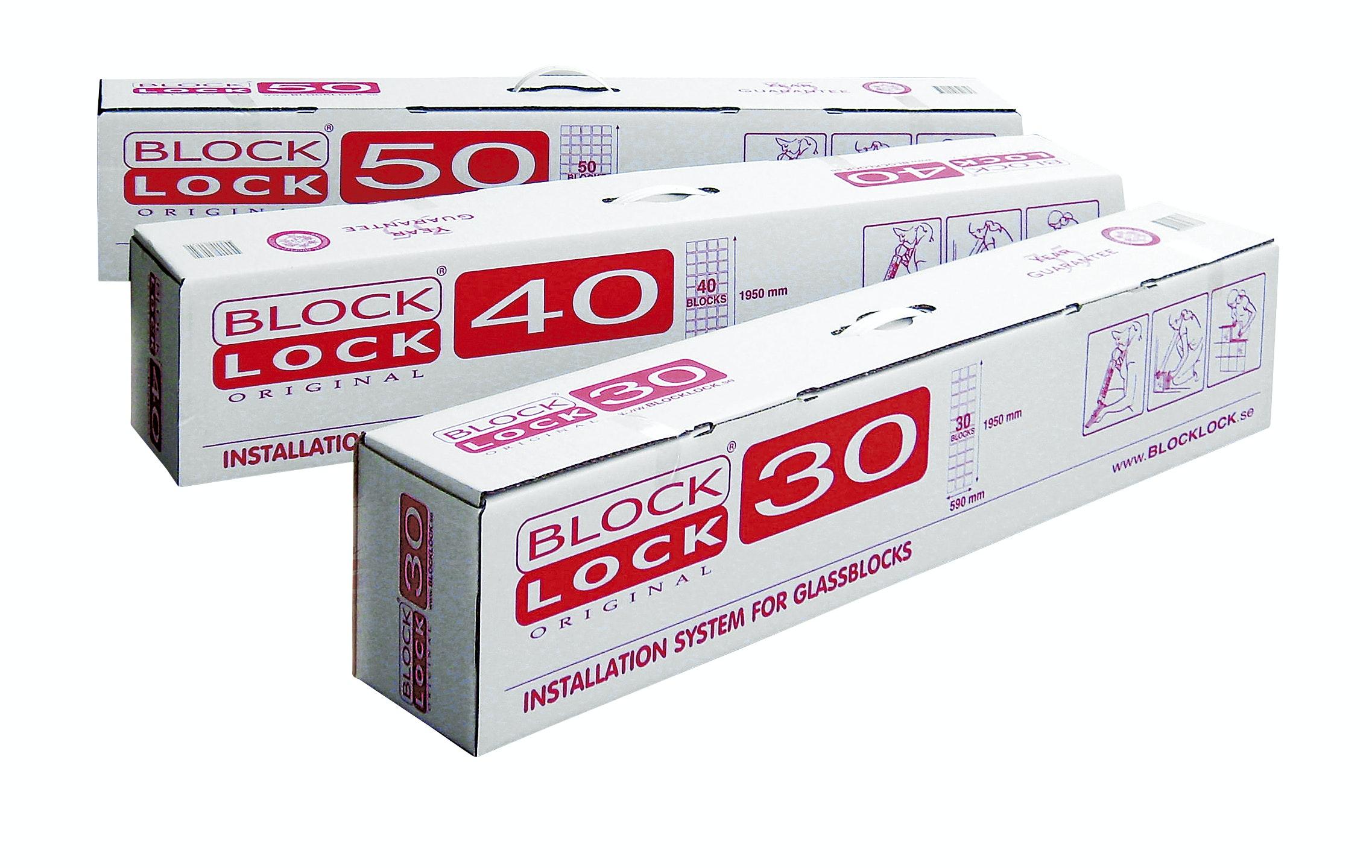 Monteringsats Vetro Block Look för 40st