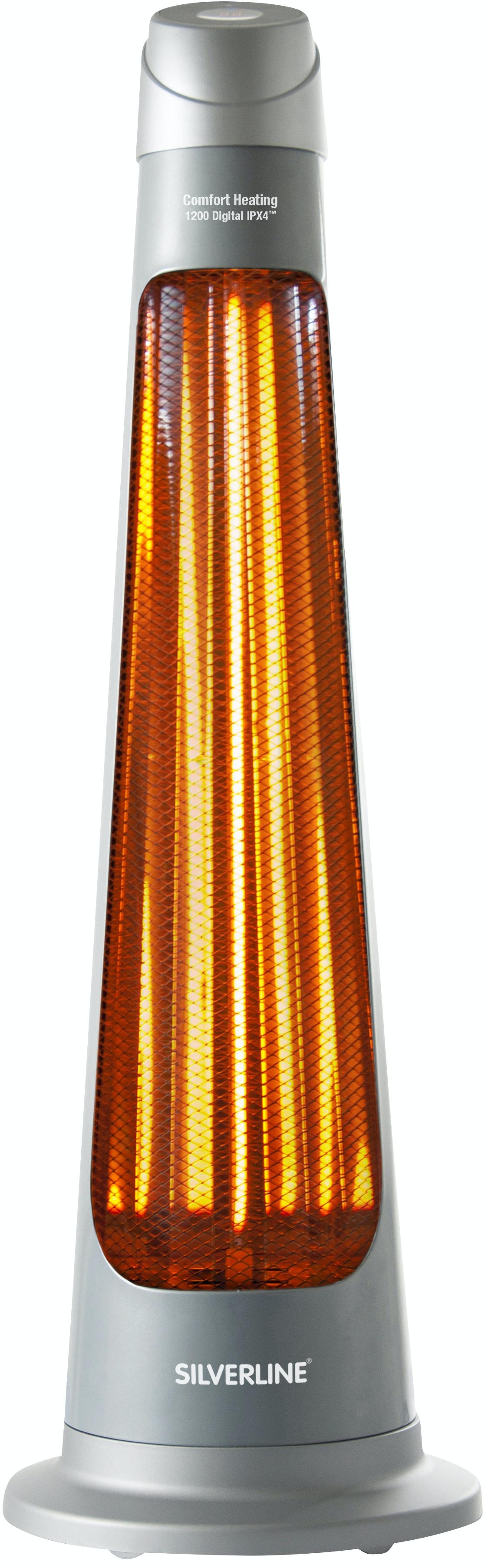 Terrassvärmare Silverline 1200 Digital IPX4 Silver 14 m²