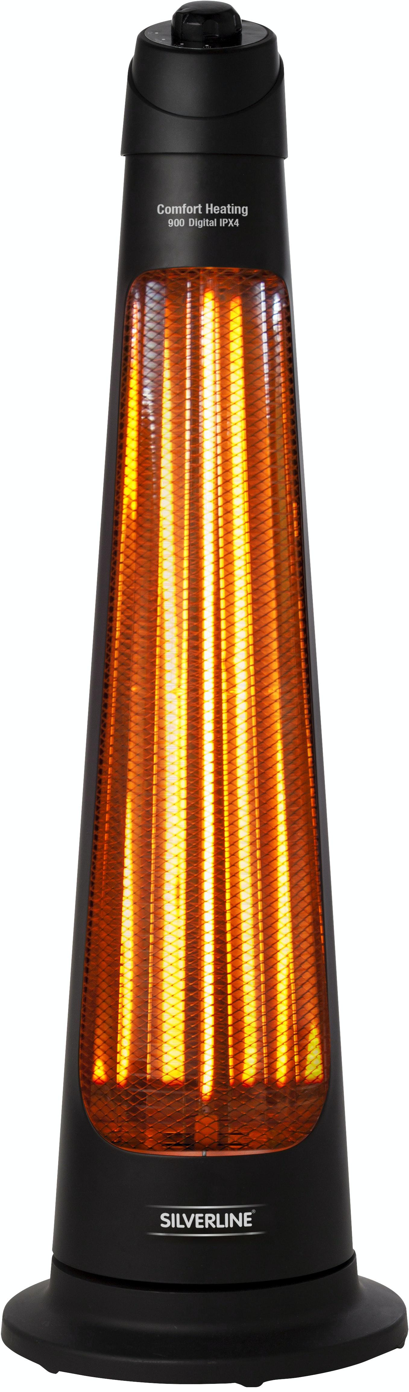 Terrassvärmare Silverline 900 IPX4 Svart 10 m²