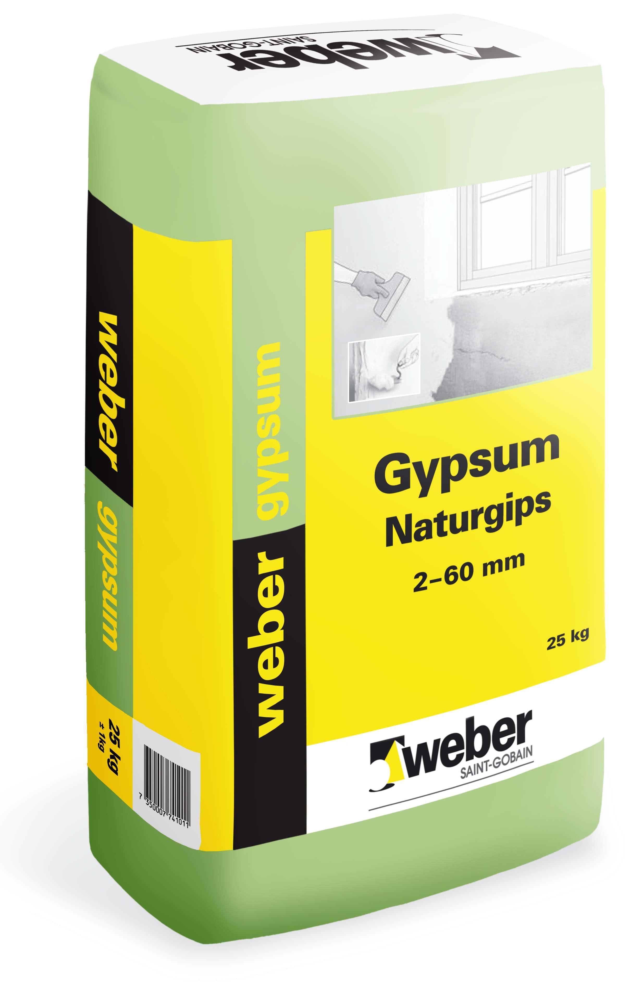 Gipsbruk Weber Saint-Gobain Gypsum Naturgips 25kg