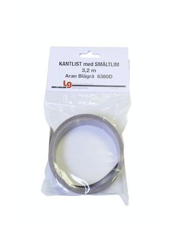 Kantband Sm 3,2m Aran Blågrå Tc