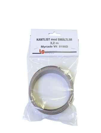 Kantband LG Collection Sm 3,2m Myriade Vit PF