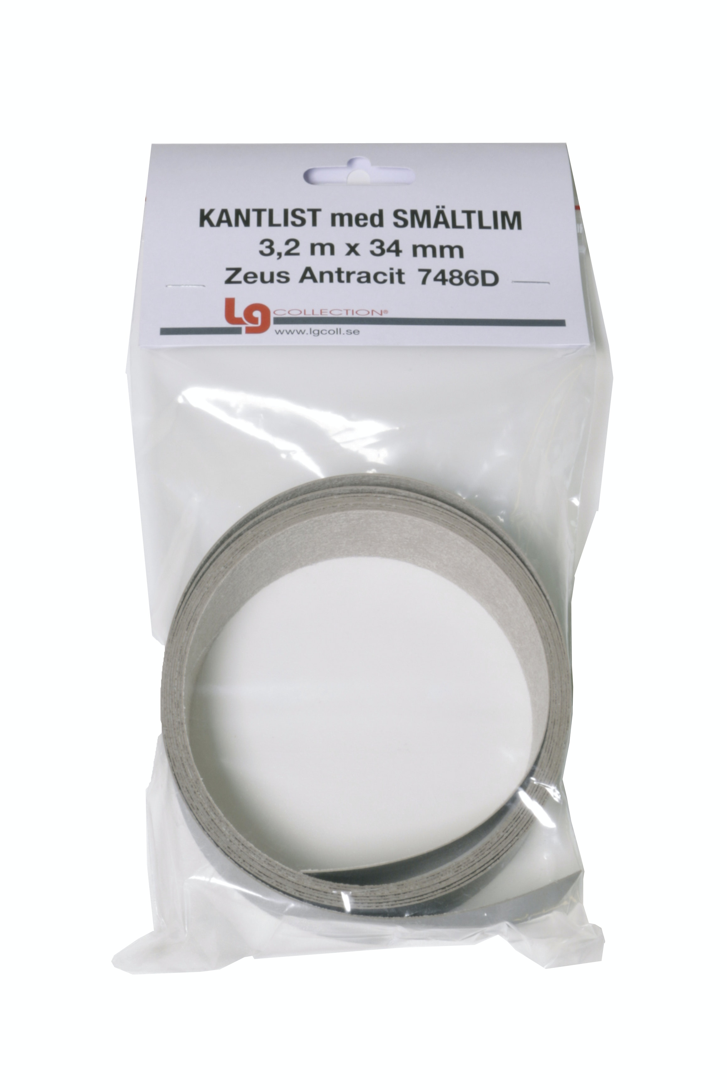 Kantband LG Collection Zeus Antracit 3,2Lpmx34mm