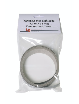 Kantband LG Collection Zeus Antracit 3,2Lpmx34mm