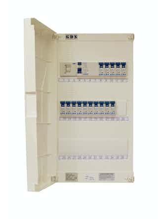Normal elcentral NCU3 med jordfelsbrytare GDS