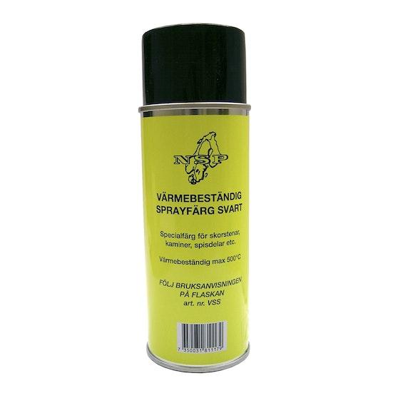 Fräscha Sprayfärg Nsp Värmebeständig Svart 400ml - K-rauta QW-04