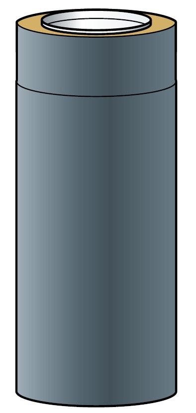 Skorstensmodul Nsp Halviso 150 Svart 0,5m
