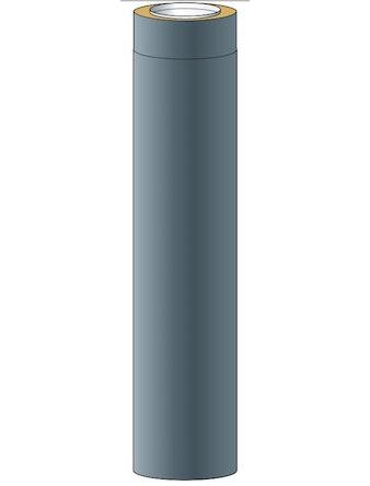 Skorstensmodul Halviso150 Svart 1,0m