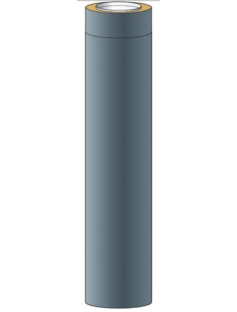 Skorstensmodul Halvsio150 Grå 1,0m