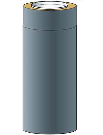 Skorstensmodul Nsp Helsio 150 Svart0,50m