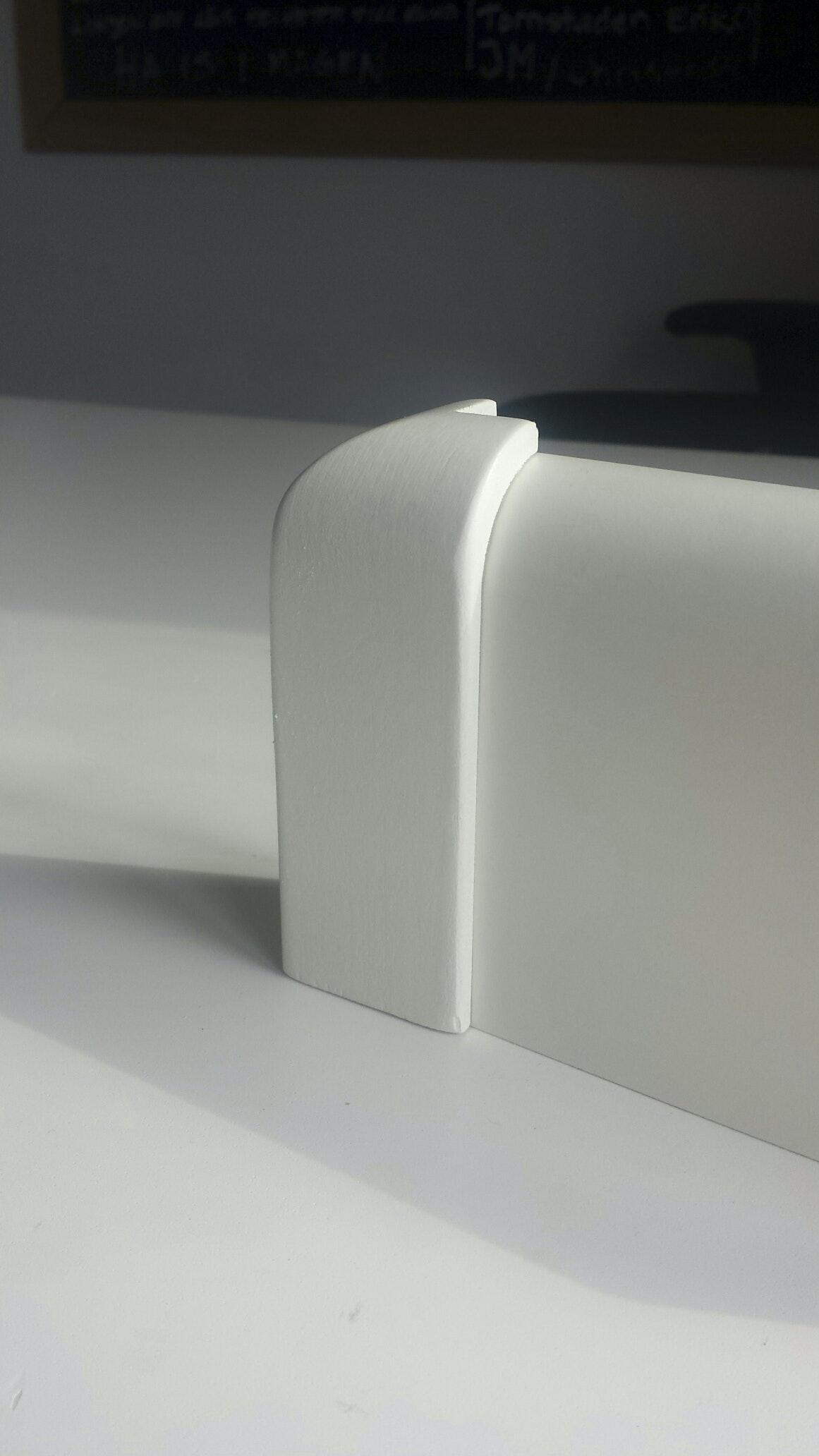Ytterhörn 90mm Vitmålad