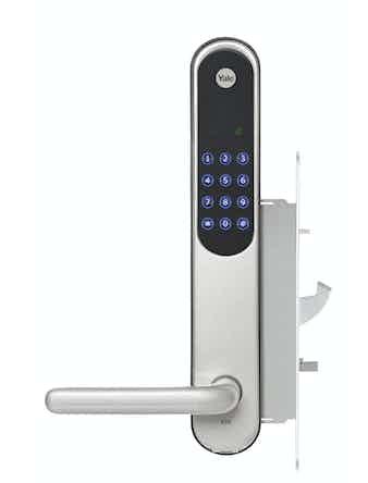 Dörrlås Elektroniskt Yale Doorman V2N Silver Komplett