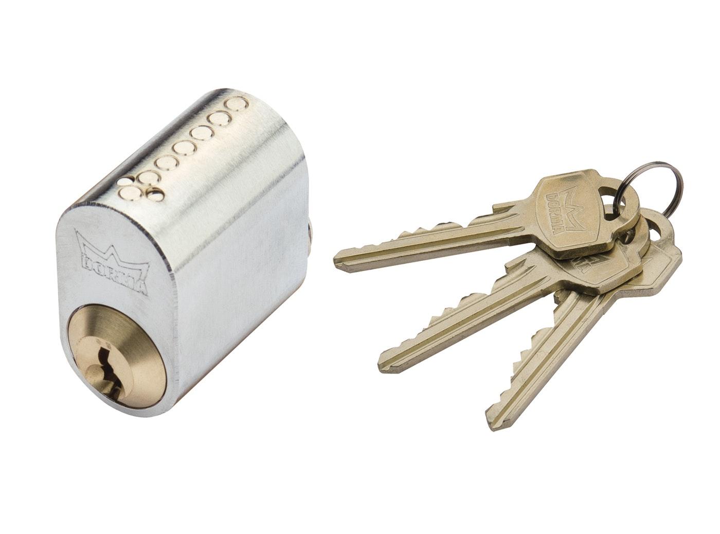 Cylinder Millers 7-Stift Krom Med 3 Nycklar