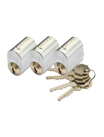 Cylinder Millers 7-Stift-Ll Grafit 3-Pack Med 5 Nycklar