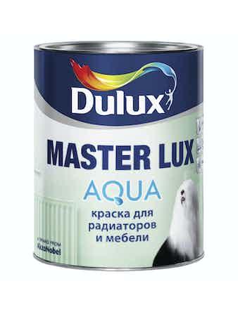 Краска для радиаторов и мебели MASTER LUX AQUA 40 Dulux белая BW 1л