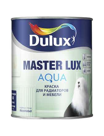 Краска для мебели и радиаторов Dulux MASTER LUX AQUA 70 глянцевая BW 1 л
