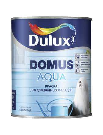 Краска для деревянных фасадо Dulux Domus Aqua BC 1 л