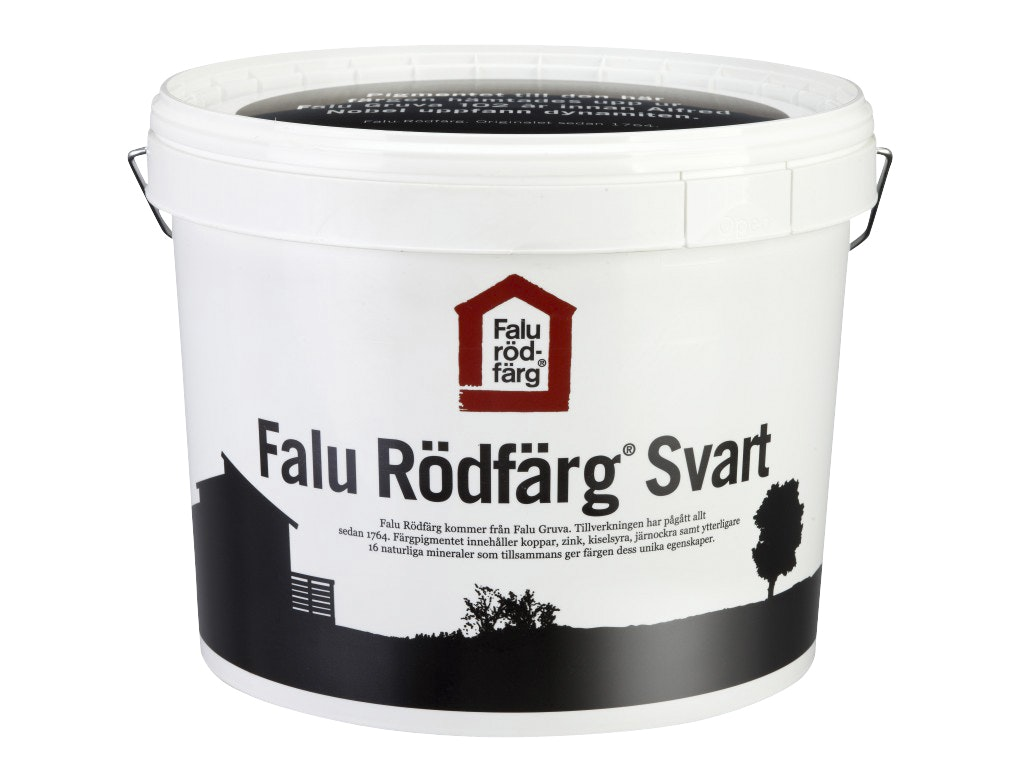 Falu Rödfärg Original Helmatt Svart 10l