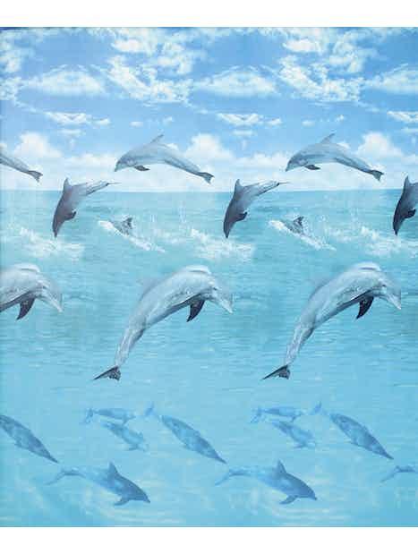 SUIHKUVERHO DUSCHY OCEAN 180X200CM SININEN TEKSTIILI