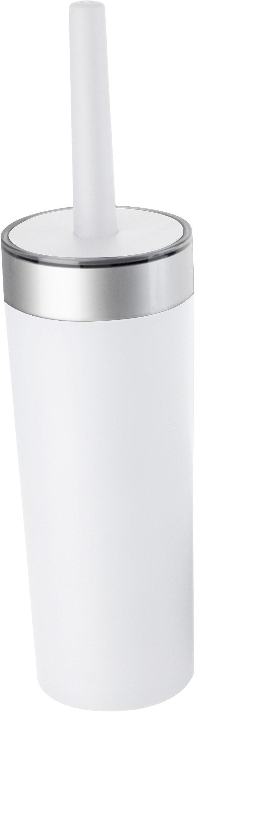 Toalettborste Duschy Sober Med behållare i Vit/Krom