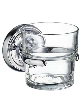 Tandborstglas Smedbo Villa K243 hållare i krom